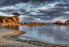 Russia, Primorye, sunset seascape Royalty Free Stock Image
