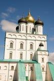 Russia. Pskov. Travel in Russia. Pskov Kremlin (Krom). Trinity Cathedral Stock Photos