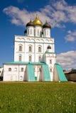 Russia. Pskov. Travel in Russia. Pskov Kremlin (Krom). Trinity Cathedral Royalty Free Stock Photos