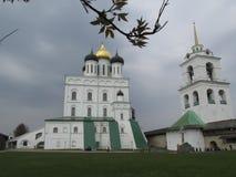 Russia, Pskov, Pskov Kremlin in early spring. Russia. Pskov.The Pskov Kremlin. Holy Trinity Cathedral is the heart of the Pskov Krom, the heart of Pskov, the Royalty Free Stock Image