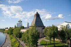 Russia. Pskov Kremlin (Krom) royalty free stock photo