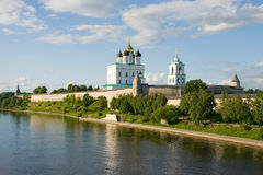 Russia. Pskov Kremlin (Krom) Stock Images