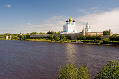 Russia. Pskov Kremlin (Krom) stock photos