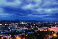 Russia. Pyatigorsk. Evening cityscape Stock Photos