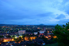Russia. Pyatigorsk. View of the evening city and mount Mashtuk Royalty Free Stock Photography