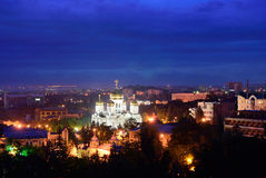 Russia. Pyatigorsk. View of the evening city and Savior Cathedra Royalty Free Stock Photography