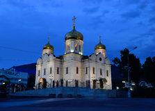 Russia. Pyatigorsk. View of the Savior Cathedral, healed the par Royalty Free Stock Photography