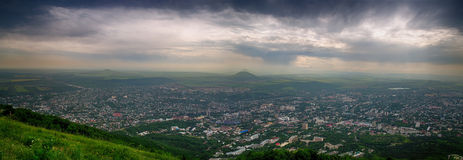 Russia. Pyatigorsk, view from the top of Mount Mashuk. Panorama Stock Image