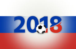 Russia 2018 red blue symbol 3d render. Graphic Royalty Free Stock Photo