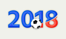 Russia 2018 red blue symbol 3d render. Graphic illustration Stock Photo
