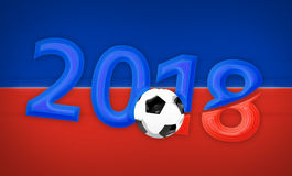 Russia 2018 red blue symbol 3d render. Graphic illustration Royalty Free Stock Images