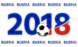 Russia 2018 red blue symbol 3d render. Graphic illustration Royalty Free Stock Photo