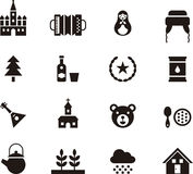 Russia related glyph web icons Royalty Free Stock Photo