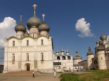 Russia. Rostov. Church in Kremlin. Russia. Rostov. Church and bell tower in Kremlin Stock Photo