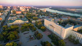 Russia. Rostov-on-Don. Councils square. The office of the centra Royalty Free Stock Photos