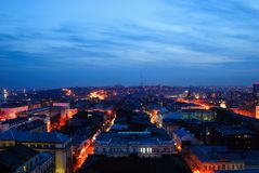 Russia. Rostov-on-Don. Evening cityscape Royalty Free Stock Images