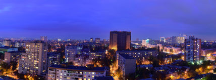 Russia. Rostov-on-Don. Evening cityscape Royalty Free Stock Photos