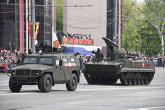 RUSSIA; ROSTOV-ON-DON - MAY 9 - Parade in honor of the 70th anni Stock Images