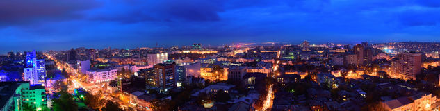 Russia. Rostov-on-Don. Red Army street. Evening cityscape Royalty Free Stock Images
