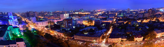 Russia. Rostov-on-Don. Red Army street. Evening cityscape Stock Image