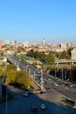 Russia. Rostov-on-Don. View of the city center and the avenue st royalty free stock photography