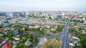 Russia. Rostov-on-Don. View of the city center and the avenue strike stock image