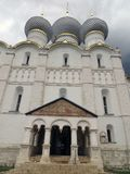 Rostov Kremlin.View of domes of the cathedral of the Assumption Stock Photo