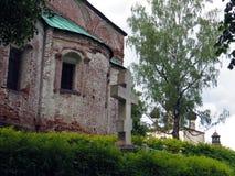 Russia. Rostov .Rostovsky Borisoglebsky monastery. Russia. Rostov. June, 17, 2017. Rostov city. Rostovsky Borisoglebsky monastery. View of backyard of church of Royalty Free Stock Photography