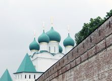 Russia. Rostov.Rostovsky Borisoglebsky monastery. South defensive wall. Watch tower. Stock Images