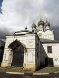 Russia. Rostov.Main entrance into the church stock photography