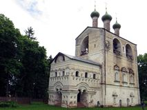 Russia. Rostov  Rostovsky Borisoglebsky monastery. Bell tower. Russia. Rostov. June, 17, 2017. Rostov city. Rostovsky Borisoglebsky monastery.Veiw of Bell tower Royalty Free Stock Photography