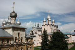 Russia, Rostov Veliky. Rostov Kremlin. Churchs Royalty Free Stock Images