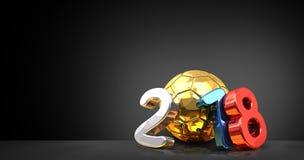 2018 Russia rosyjskiej piłki nożnej piłki 3d futbolowy rendering Fotografia Royalty Free