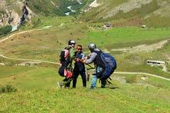 Russia.Kabardino-Barkar Republic. Chegem.paradrome. where dreams come true, flights over the earth !!! stock image