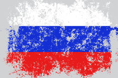 Russia,Russian Federation grunge, old, scratched style flag.  Royalty Free Stock Photo