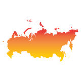 Russia, Russian Federation map. Colorful orange vector illustrat. Ion Stock Images