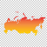Russia, Russian Federation map. Colorful orange vector illustrat Stock Photos
