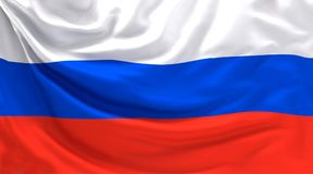Russia russian flag banner 3d rendering. Design Royalty Free Stock Images