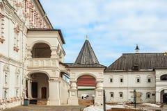 Russia, the Ryazan Kremlin, Transfiguration Preobrazhensky cathedral and Spaso-Preobrazhensky monastery. On sunny days Stock Photos