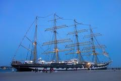 Russia's barque Kruzenshtern. ALEXANDROUPOLIS, GREECE - APR 18, 2015: Old Russia's barque Kruzenshtern ex Padua, visit the port of Alexandroupolis Stock Images