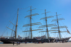 Russia's barque Kruzenshtern Royalty Free Stock Images