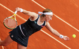 Russia's Svetlana Kuznetsova at Roland Garros Royalty Free Stock Photo