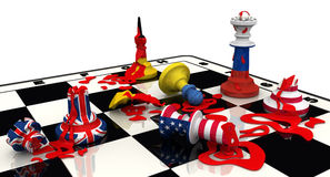 Russia's victory in geopolitics. Concept Royalty Free Stock Photos