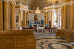 Interior of The Armenian Church of St. Catherine. RUSSIA, SAINT PETERSBURG - AUGUST 18, 2017:  Interior of The Armenian Church of St. Catherine near Nevsky Stock Photography