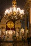 The altar of the Kazan Cathedral. RUSSIA, SAINT PETERSBURG - AUGUST 18, 2017: interior of the Kazan Cathedral or Kazanskiy Kafedralniy Sobor in St.Petersburg Royalty Free Stock Photos