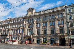Nevsky Prospect, 62. RUSSIA, SAINT PETERSBURG - AUGUST 18, 2017: Nevsky Prospect, 62 in summer sunny day Royalty Free Stock Image