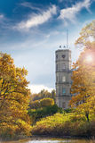 Russia. Saint-Petersburg. Gatchina. Autumn in palace park Royalty Free Stock Photo