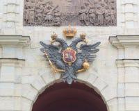 Russia, Saint-Petersburg, 12 June 2017 - eagle Romanov Empire ov Royalty Free Stock Image