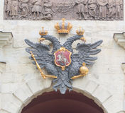 Russia, Saint-Petersburg, 12 June 2017 - Imperial eagle above th Stock Images