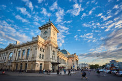 RUSSIA, SAINT-PETERSBURG - JUNE 17, 2017. Vitebsky railway station. Royalty Free Stock Photo